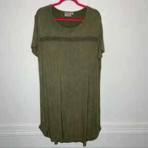 Dantelle Rusted Green Tee Dress Size 1X